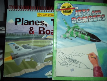 YOU CAN DRAW   JETS AND BOMBERS,   PLANES  (SET OF 2)