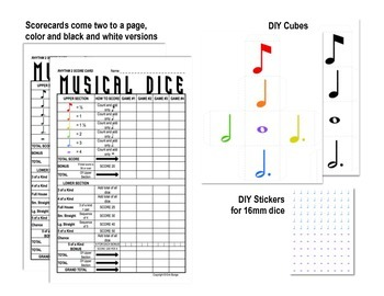 Yahtzee -inspired Musical Dice Game (Rhythm Medium)