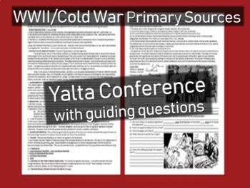 Yalta Conference Primary Source w text-dependent Qs (engag