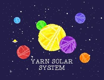Yarn Ball Fantasy Solar System Poster Print Science Astron