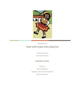 Yaw Yaw Puka Polleracha - Sheet Music