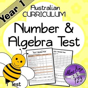 Year 1 ACARA Number Maths Test