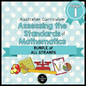 Year 1 Australian Curriculum Maths Assessment BUNDLE OF AL