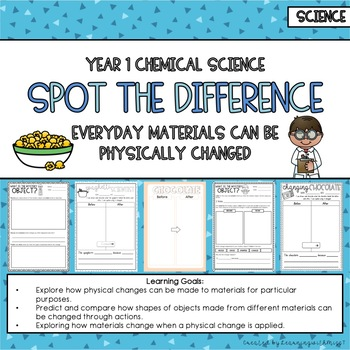 Year 1 Chemical Science Spot the Difference - Australian C