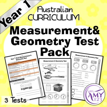 Year 1 Measurement & Geometry Maths Test Pack- Australian