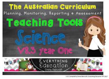 Year 1 Science V 8.3 Australian Curriculum Package