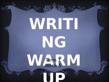 Year 1 Writing Warm Up Term 1 Week 5