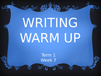 Year 1 Writing Warm Up Term 1 Week 7