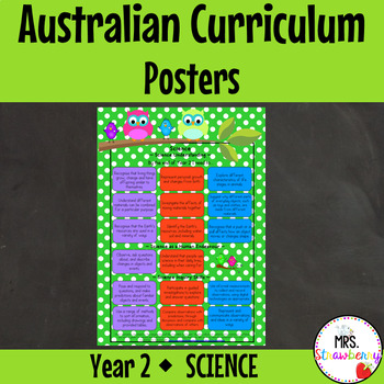 Year 2 Australian Curriculum Posters – Science