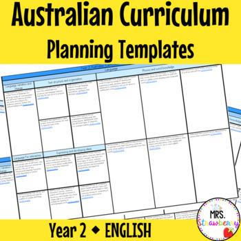Year 2 Australian Curriculum Planning Templates - English