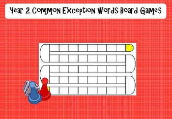 Year 2 Common Exception Words - Board Games