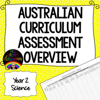 Year 2 Science Australian Curriculum Assessment Overview