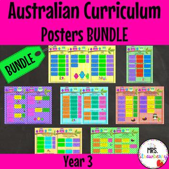 Year 3 Australian Curriculum Poster Bundle