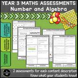 Year 3 Australian Curriculum Maths Assessment Number and A