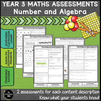 Year 3 Australian Curriculum Maths Assessment Number and A