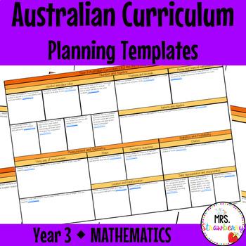 Year 3 Australian Curriculum Planning Templates - Mathematics