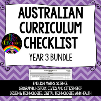 Year 3 BUNDLE - Australian Curriculum Checklists