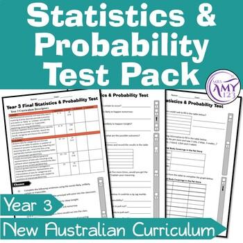 Year 3 Statistics & Probability Maths Test Pack- Australia