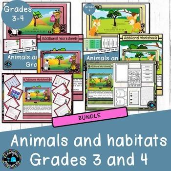 Year 3, Year 4 - Animal Themed Cross Curricular Unit (Bundle)