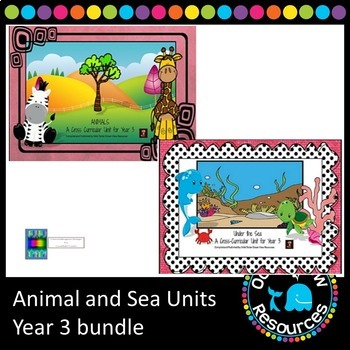 Year 3 Sea and Animal Themed Bundle