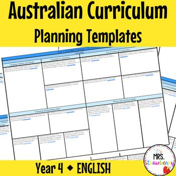 Year 4 Australian Curriculum Planning Templates - English