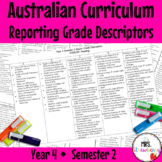 Year 4 Australian Curriculum Reporting Rubric - Semester 2