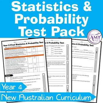 Year 4 Statistics & Probability Maths Test Pack- Australia