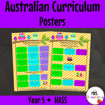 Year 5 Australian Curriculum Posters – Humanities and Soci