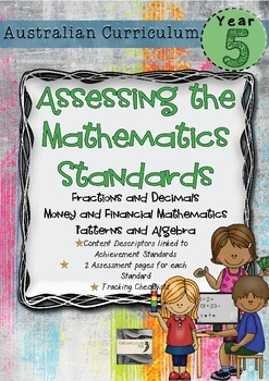 Year 5 Australian Curriculum Maths Assessment - Fractions,