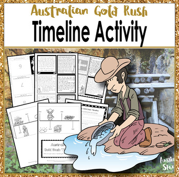 HASS Year 5 Australian History Gold Rush Timeline Foldable