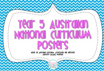 Year 5 Australian National Curriculum Posters