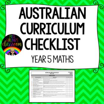 Year 5 Maths - Australian Curriculum Checklist
