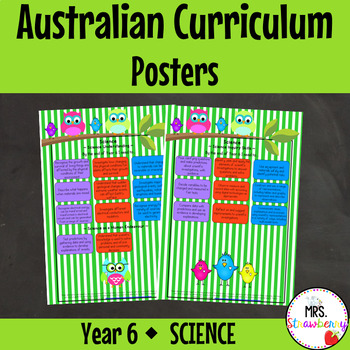Year 6 Australian Curriculum Posters – Science