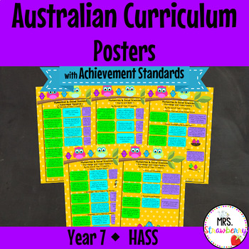 Year 7 Australian Curriculum Posters – HASS {with Achievem