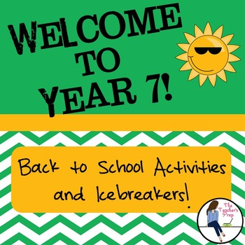 Year 7 Back to School Activities and Icebreakers