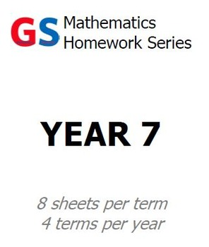 Year 7 Homework sheets - Term 4