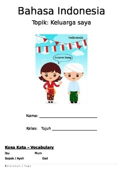 Year 7 Indonesian Family Booklet