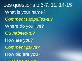 Year 7 Tricolore Total 1 questions et réponses units 1,2, 3