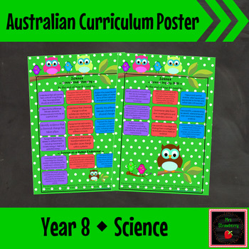 Year 8 Australian Curriculum Posters – Science