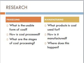 Year 8 Science - Processing, Manufacturing and Environment