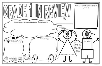 Year End Poster - Grade One In Review
