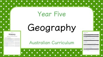 Year Five - Geography Year Planner (Australian Curriculum)