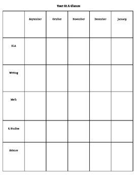 Year Long Planning Sheet