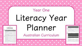 Year One - Literacy Year Planner (Australian Curriculum)