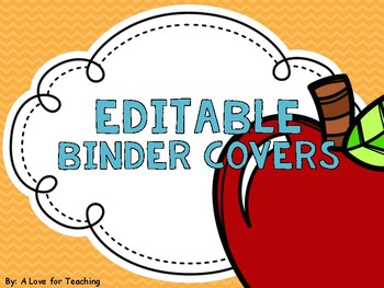 Year Round Binder Cover and Spines {Editable}