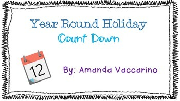 Year Round Holiday Countdown
