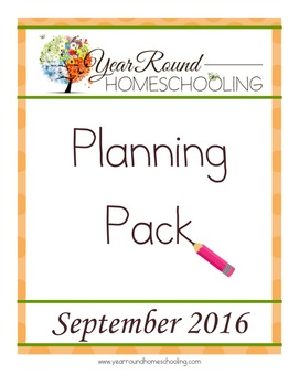 Year Round Homeschooling September 2016 Planning Pack