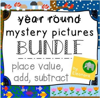 Year Round Hundreds Chart Mystery Pictures BUNDLE - Place