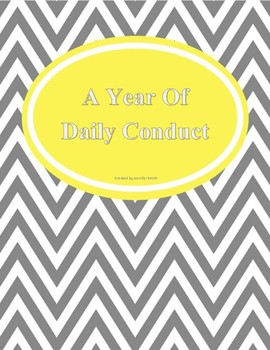 Year of Daily Folder Conduct Forms