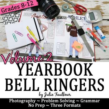 Yearbook Class 100 Days of Bell Ringer Class Starter Activ